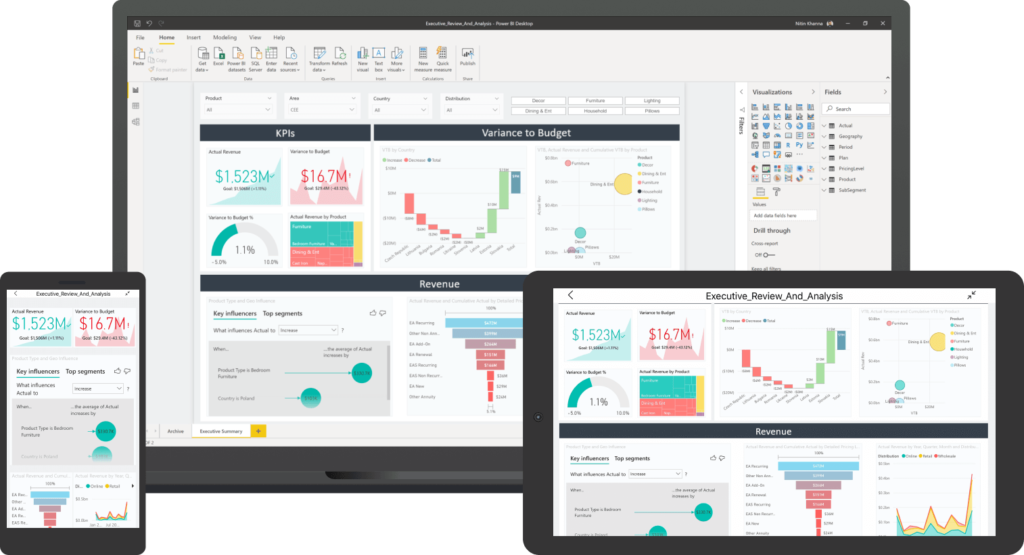 Microsoft Dynamics 365 Power BI. Drive better business decisions with access to more accurate data with Microsoft Power BI. Power BI allows you to visualise and analyse your Microsoft Dynamics data like never before with Power BI from Azzure IT.